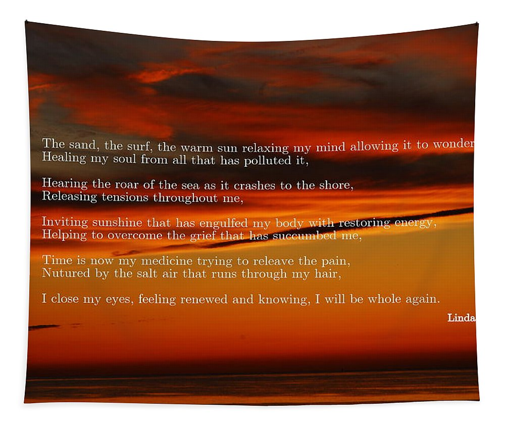 Sunset Tapestry featuring the photograph The Renewal Poem by Linda Covino