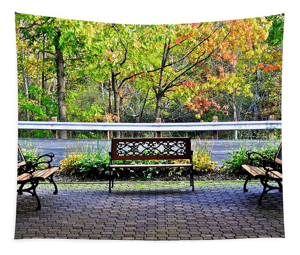 Autumn Tapestry featuring the photograph The Resting Spot by Frozen in Time Fine Art Photography