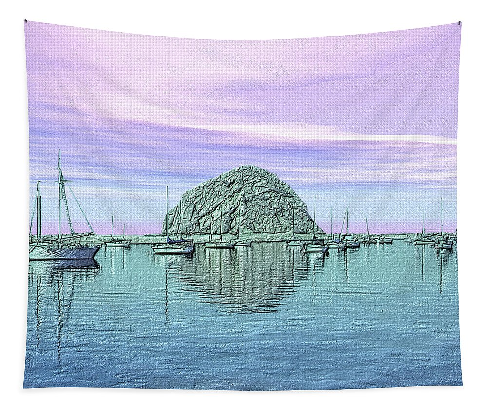 Seascape Tapestry featuring the photograph The Rock by Kurt Van Wagner