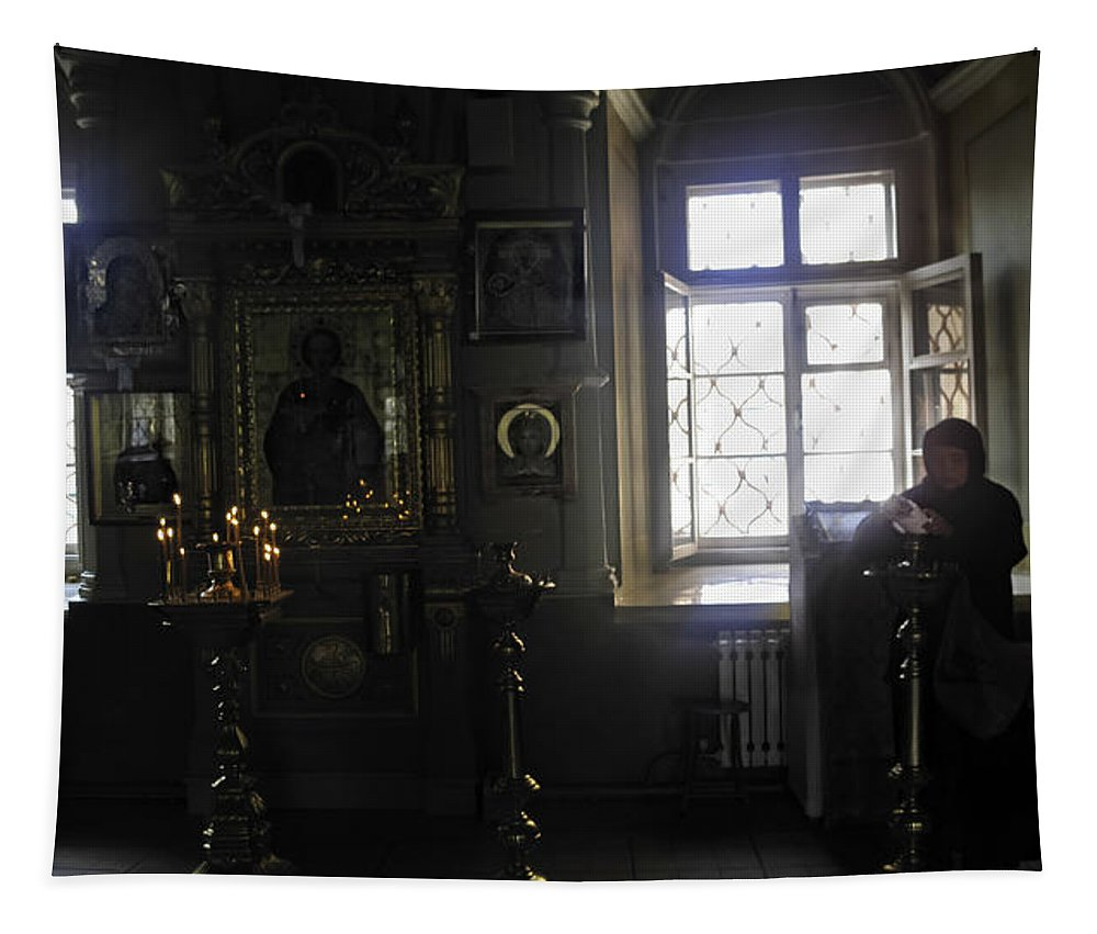 Convent Tapestry featuring the photograph The Room - Moscow - Russia by Madeline Ellis