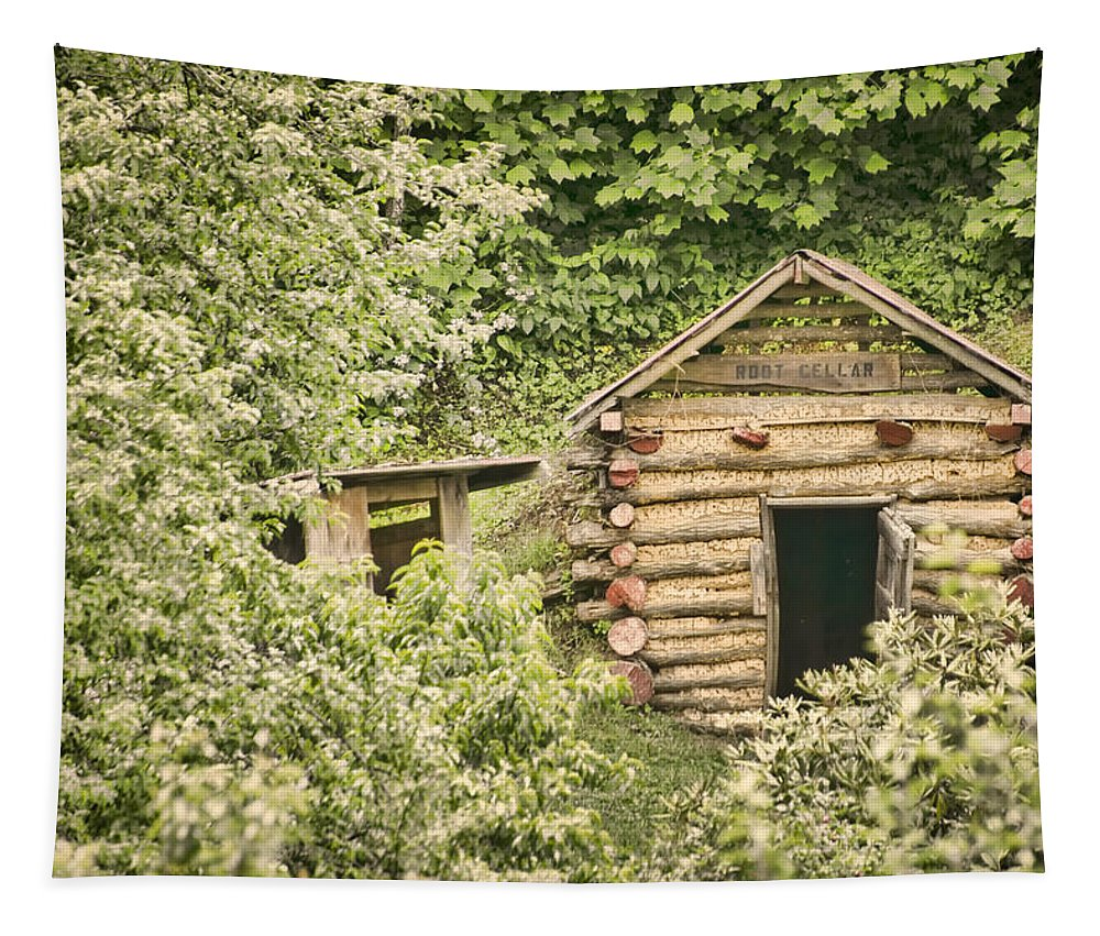 Rustic Tapestry featuring the photograph The Root Cellar by Heather Applegate