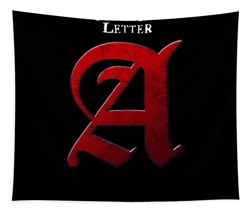 The Scarlet Letter Tapestry featuring the digital art The Scarlet Letter by Dan Sproul
