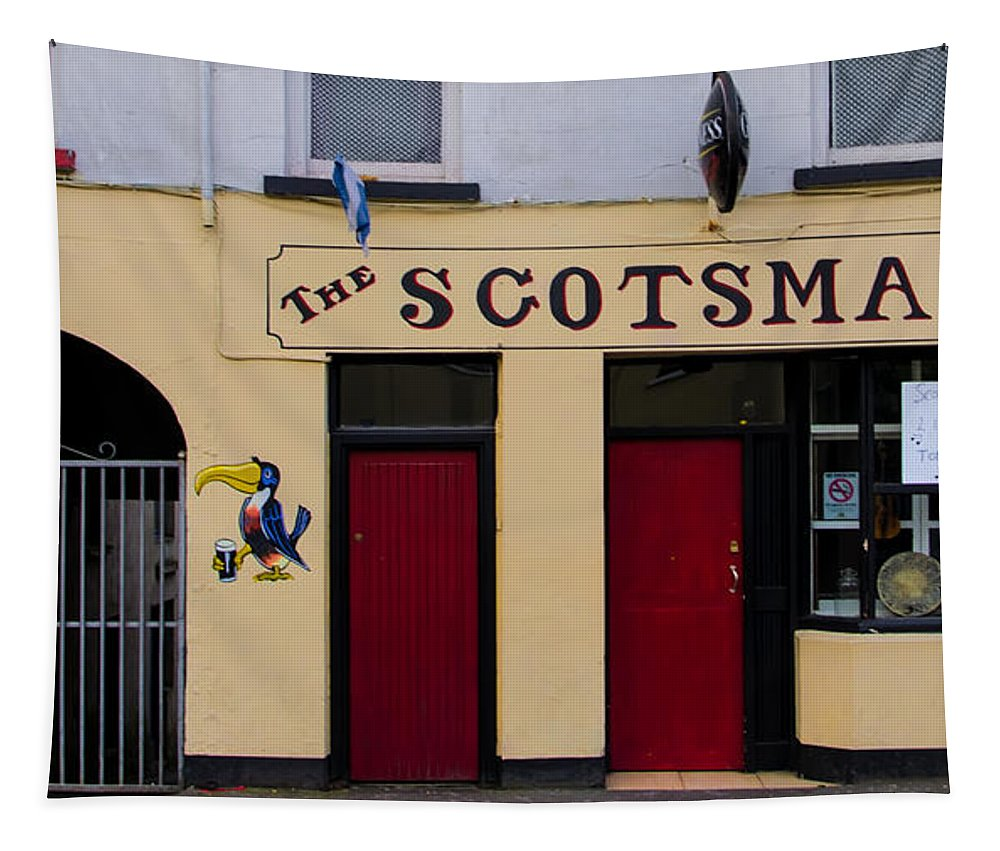 Scottsmans Tapestry featuring the photograph The Scottsmans Bar - Donegal Ireland by Bill Cannon