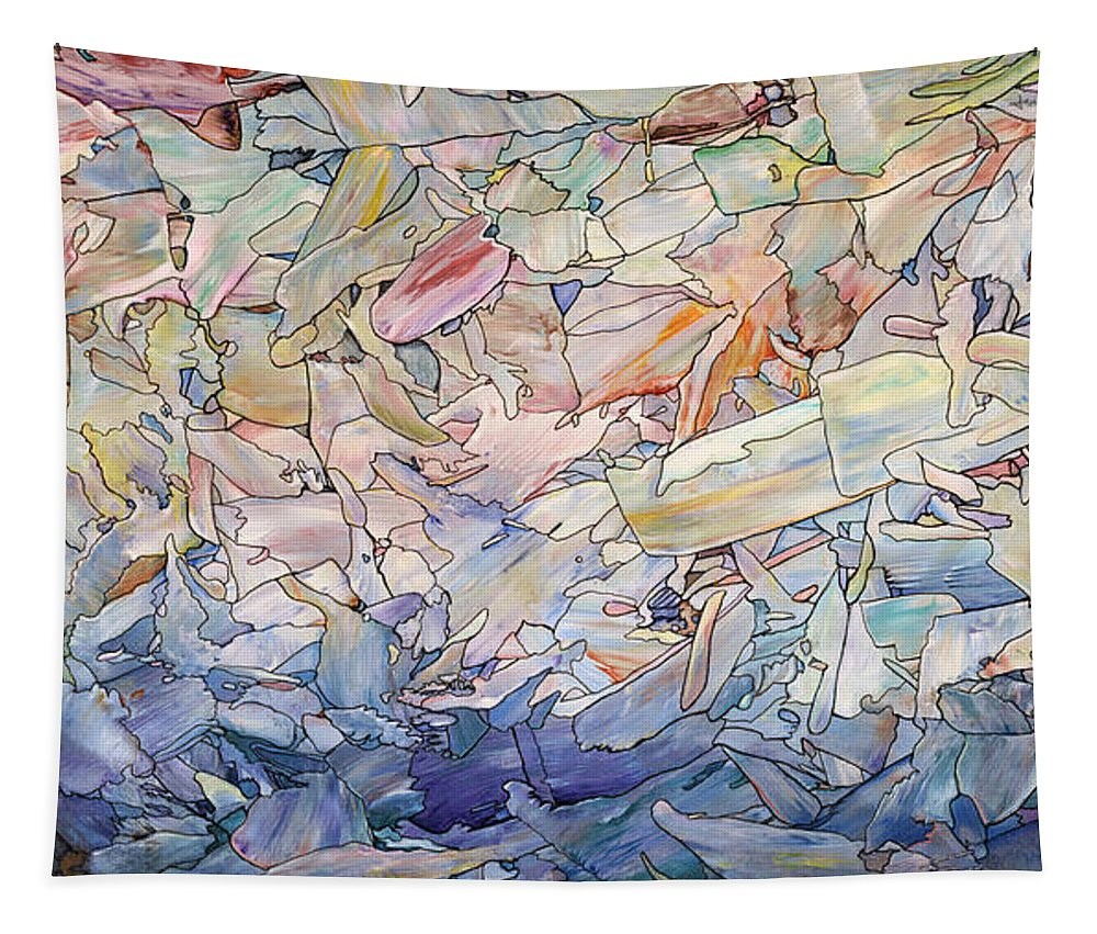Sea Tapestry featuring the painting Fragmented Sea by James W Johnson
