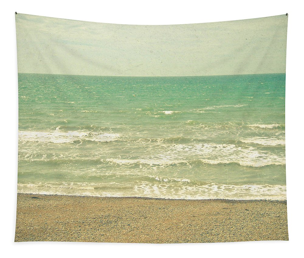 Landscape Tapestry featuring the photograph The Sea the Sea by Cassia Beck