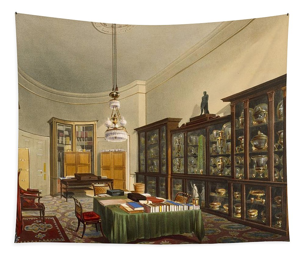 Interior Tapestry featuring the painting The Secretarys Room, Apsley House by Thomas Shotter Boys