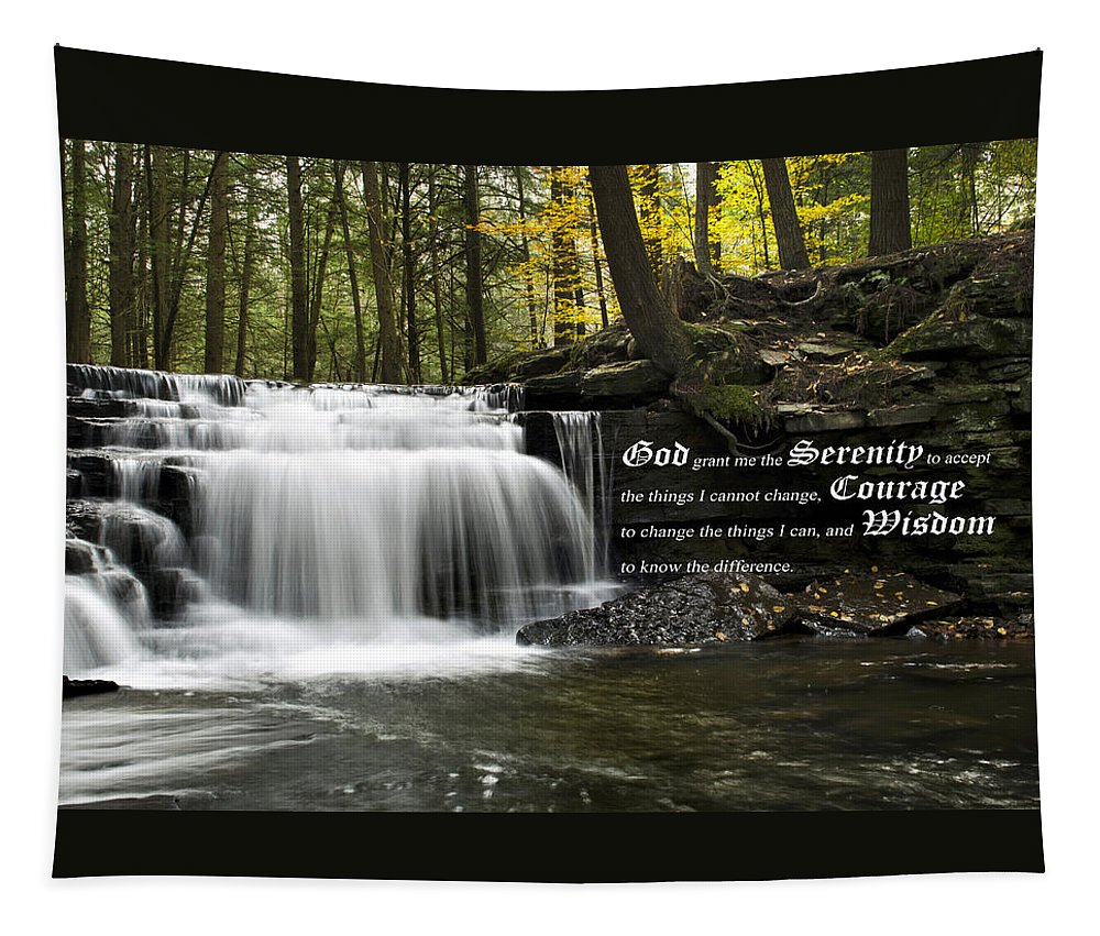 The Serenity Prayer Tapestry featuring the photograph The Serenity Prayer by Christina Rollo