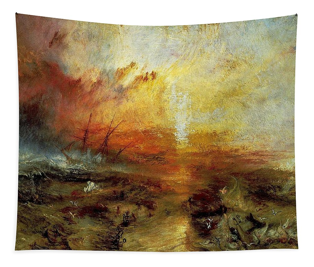 Joseph Tapestry featuring the painting The Slave Ship by Philip Ralley