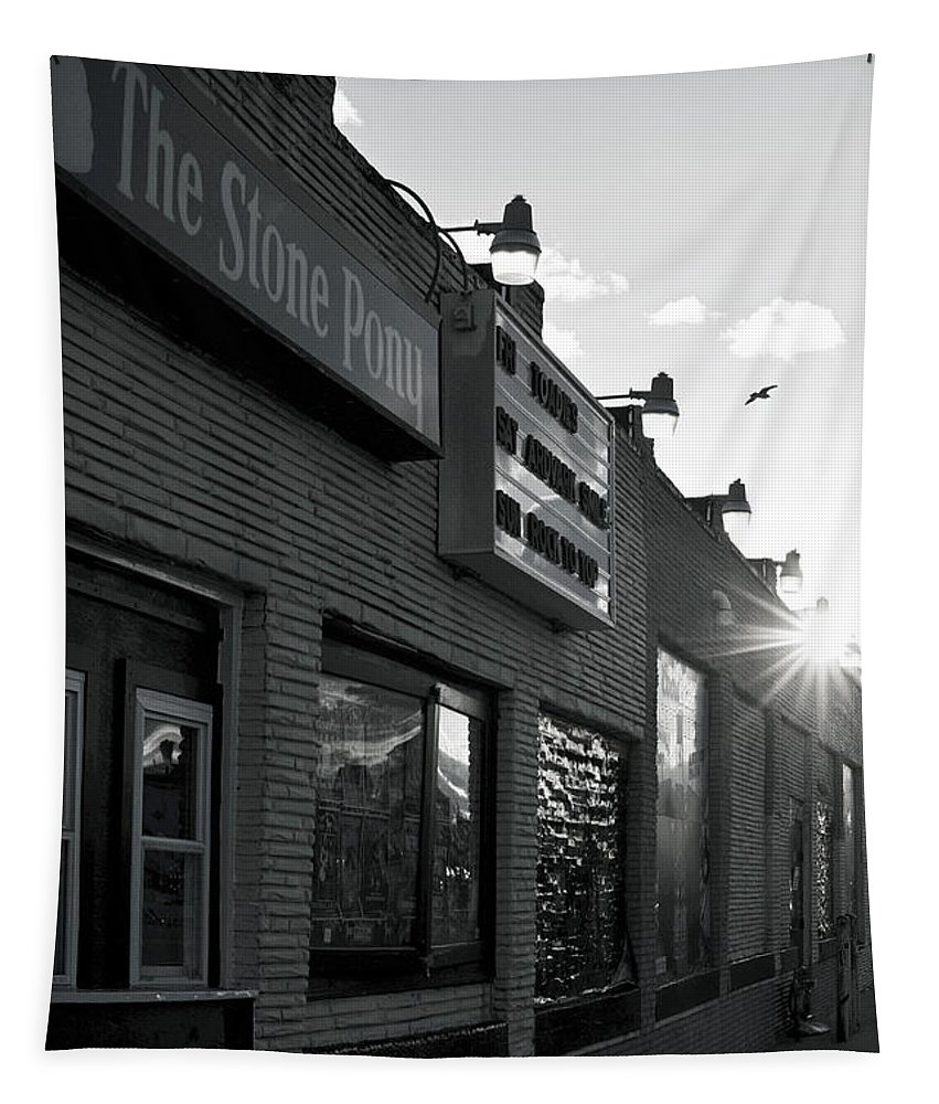 The Stone Pony Asbury Park Side View Tapestry featuring the photograph The Stone Pony Asbury Park Side View by Terry DeLuco