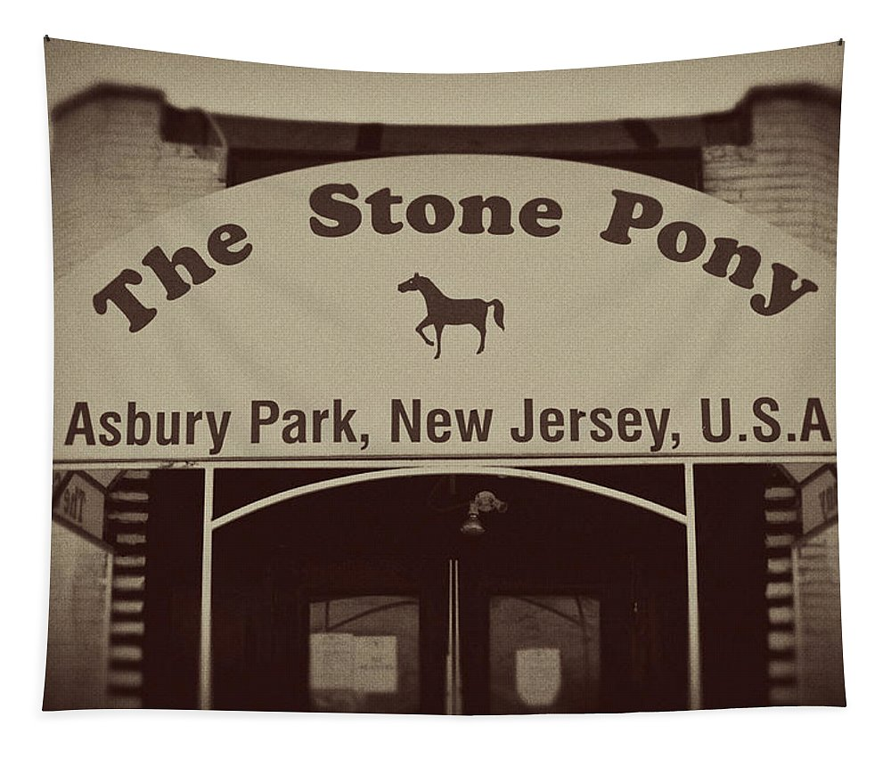 The Stone Pony Vintage Asbury Park New Jersey Tapestry featuring the photograph The Stone Pony Vintage Asbury Park New Jersey by Terry DeLuco