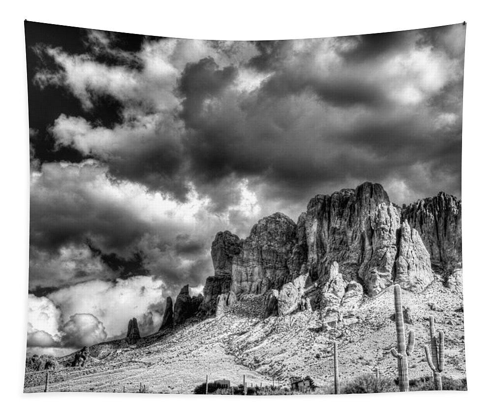Arizona Tapestry featuring the photograph The Superstitions by Saija Lehtonen