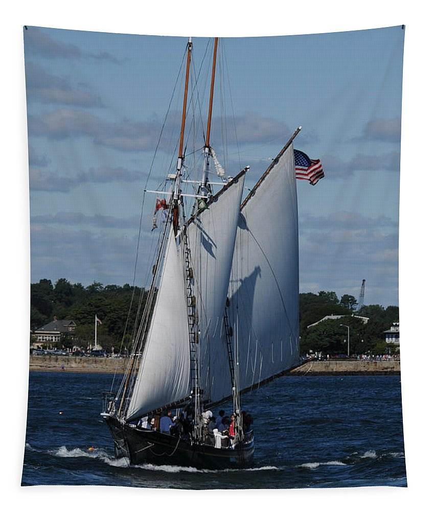 Seascape Tapestry featuring the photograph The Thomas E. Lannon by Mike Martin