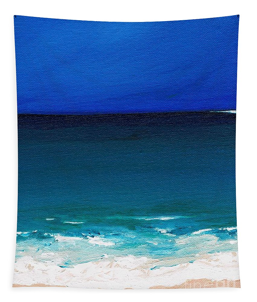 Seashore Tapestry featuring the painting The Tide Coming In by Frances Marino