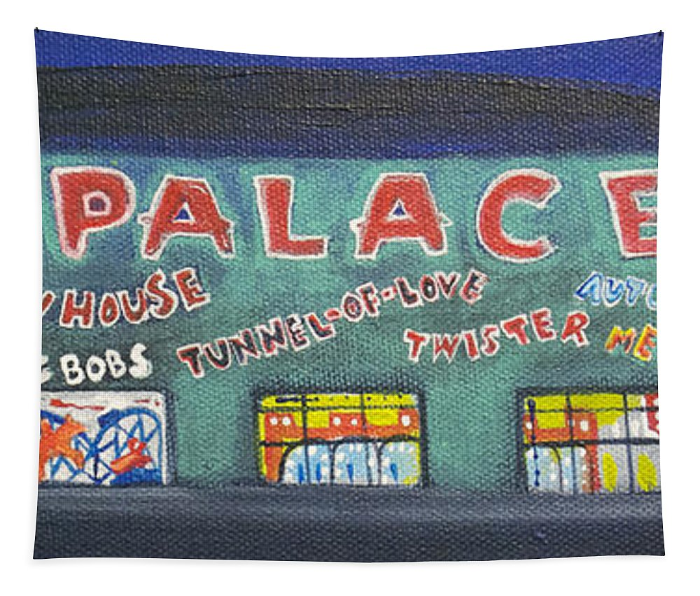 Tillie Of Asbury Park Tapestry featuring the painting The Tiny Tiny Palace by Patricia Arroyo