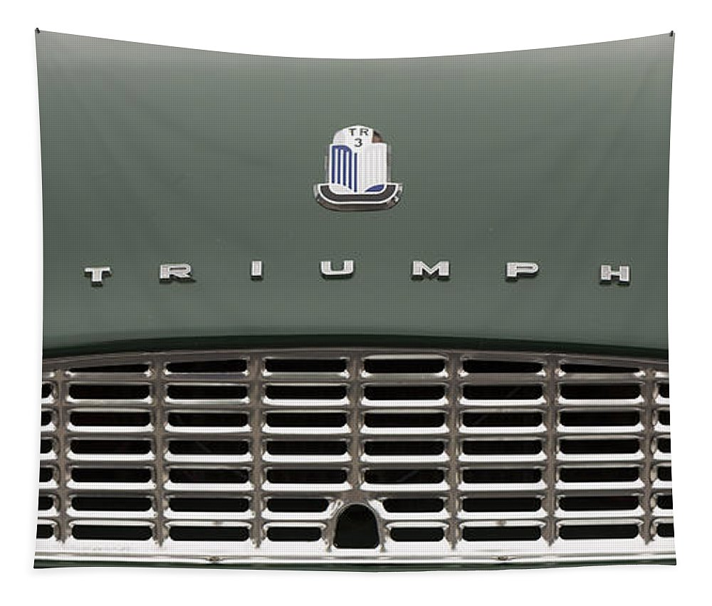Triumph Tapestry featuring the photograph The Tr3 Look by Scott Campbell