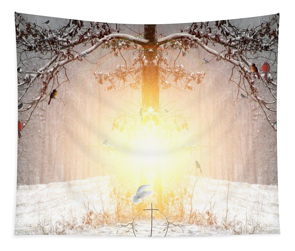Winter Tapestry featuring the digital art The Tree Of Life by Bill Stephens