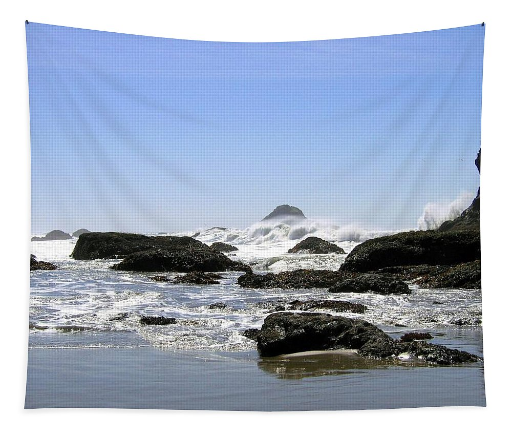The Untamed Sea Tapestry featuring the photograph The Untamed Sea by Will Borden