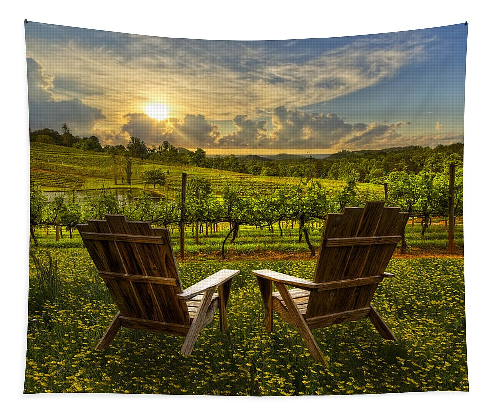 Appalachia Tapestry featuring the photograph The Vineyard  by Debra and Dave Vanderlaan