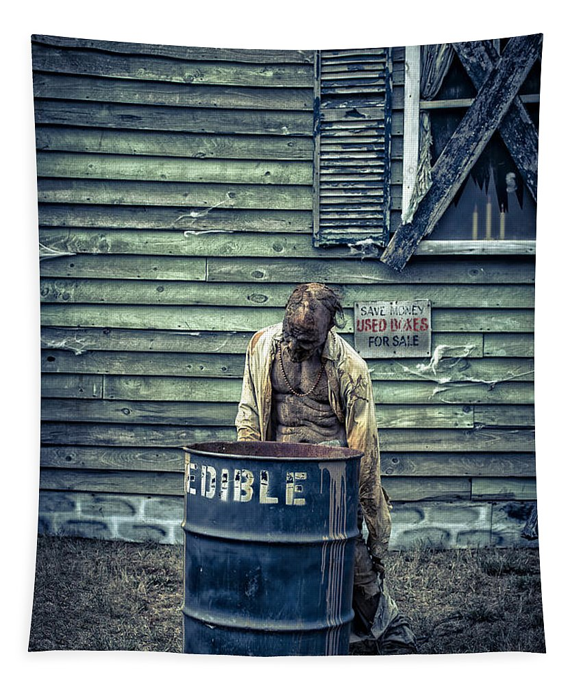Zombie Tapestry featuring the photograph The Walking Dead by Edward Fielding