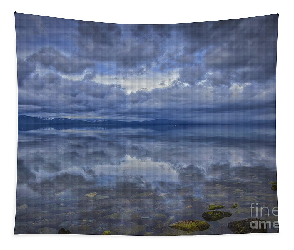 Rocks Tapestry featuring the photograph The Waters Beneath by Mitch Shindelbower
