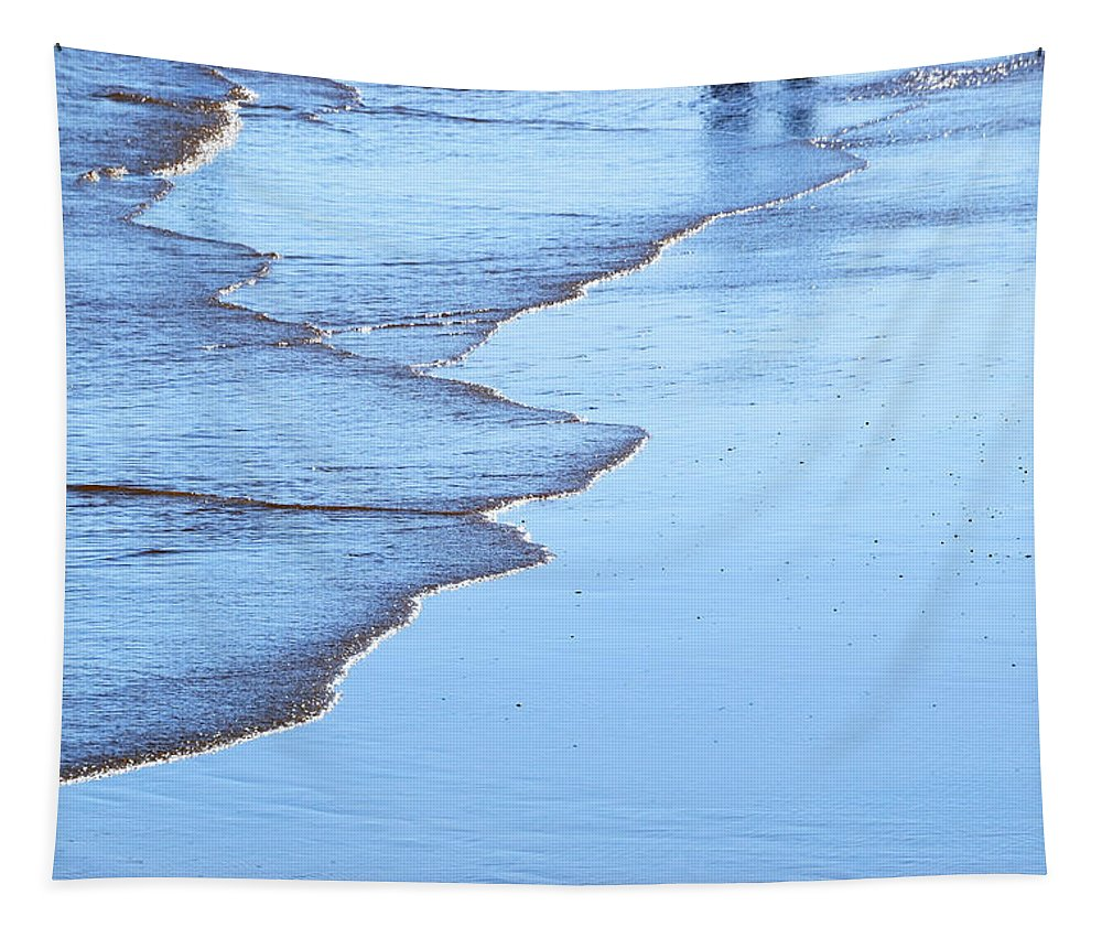Beach Tapestry featuring the photograph The Waters Edge by Wendy Wilton