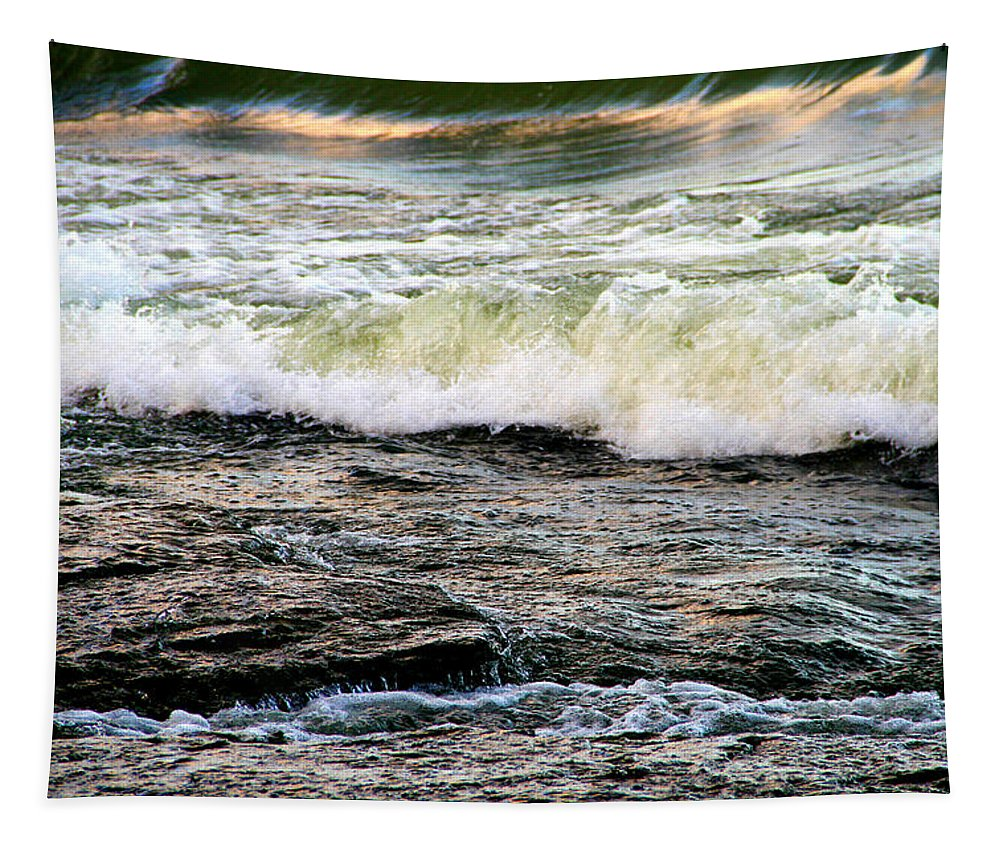Moving Water Tapestry featuring the photograph The Wave by Dan Sproul