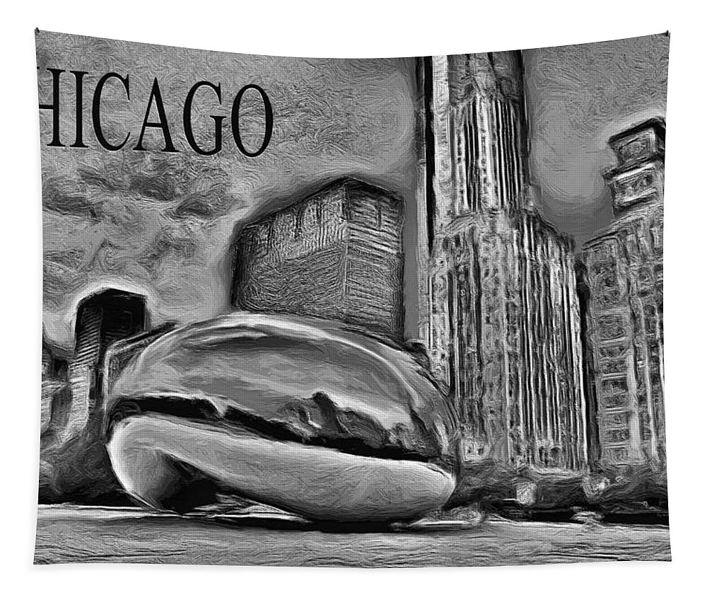 Cloudgate Tapestry featuring the painting This Is Chicago by Ely Arsha