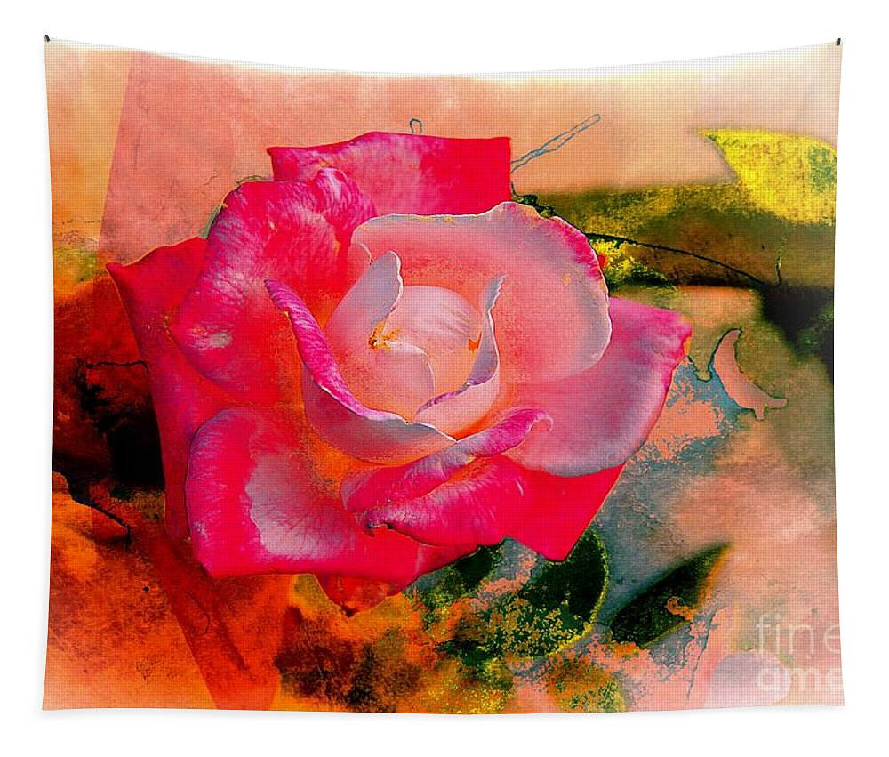 John+kolenberg Tapestry featuring the photograph This Rose Reminds Me Of You by John Kolenberg