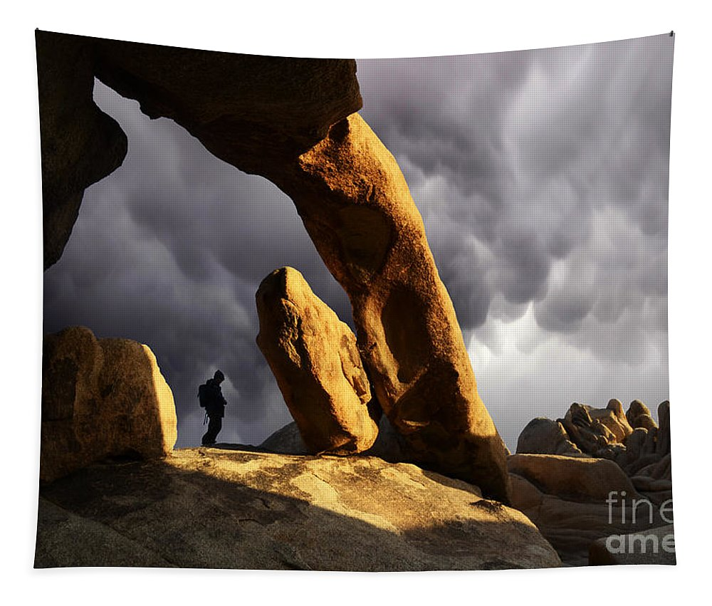 Threatening Skies Tapestry featuring the photograph Threatening Skies by Bob Christopher