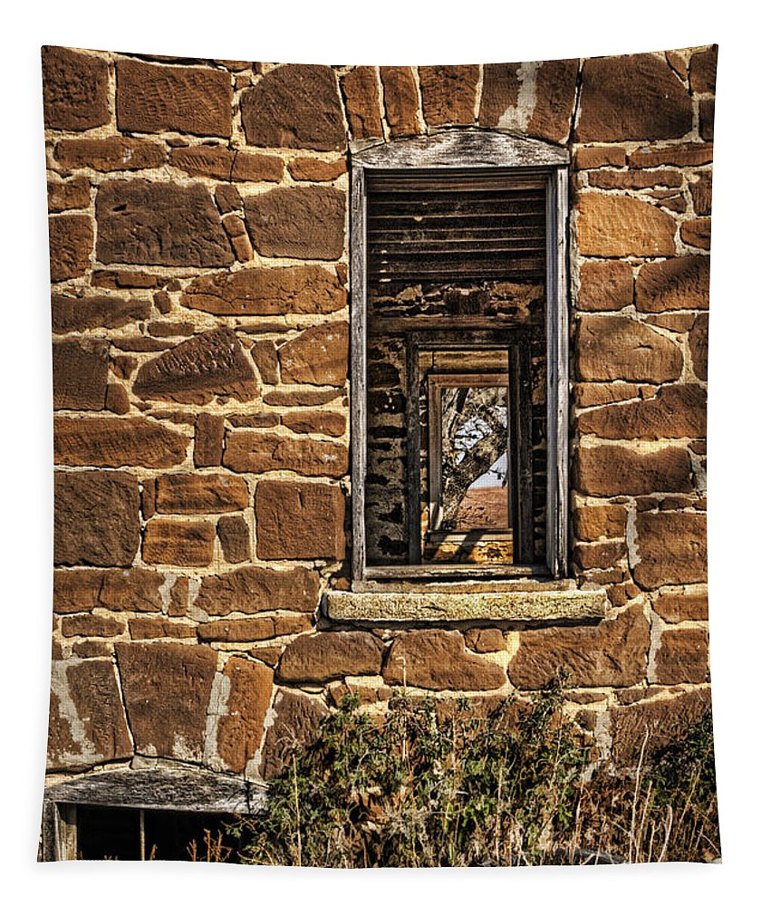 Abandoned House Tapestry featuring the photograph Through Doors And Windows - Abandoned House by Nikolyn McDonald