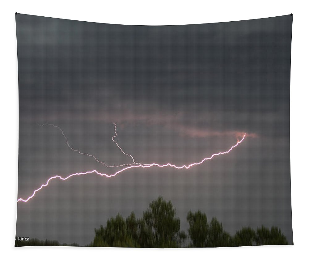 Thunderstorm At Young Arizona Tapestry featuring the photograph Thunderstorm At Young Arizona by Tom Janca