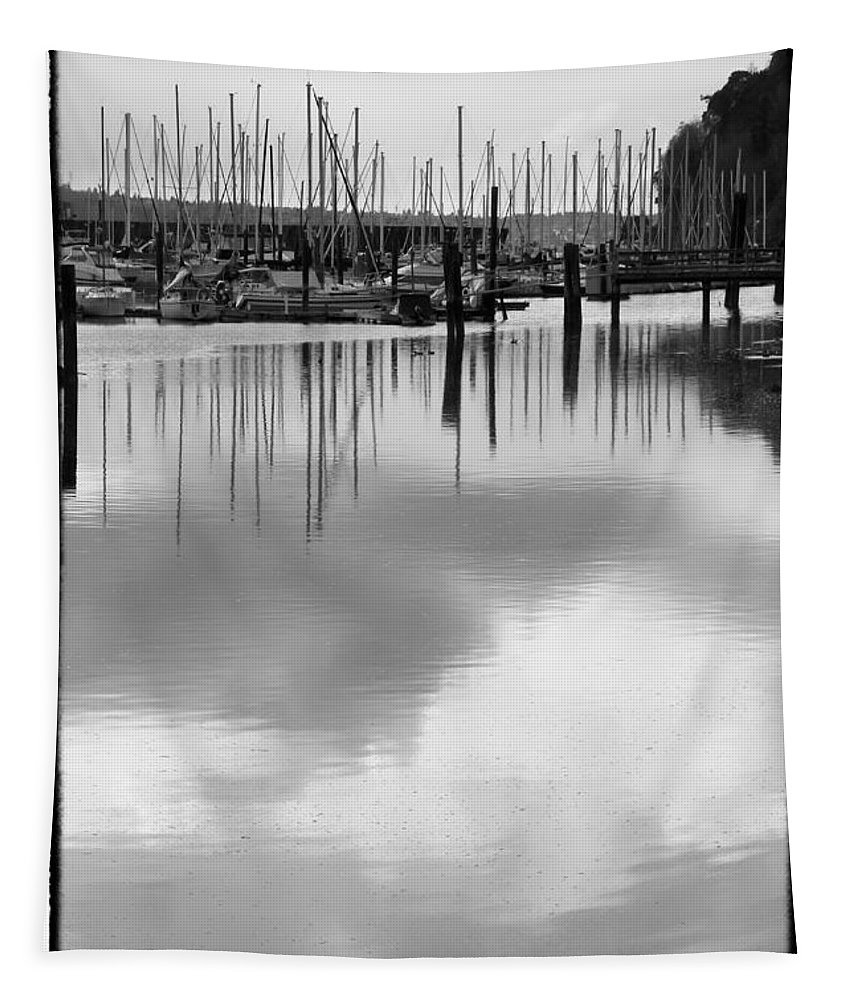 Boats Tapestry featuring the photograph Tide Flats Marina by David Patterson