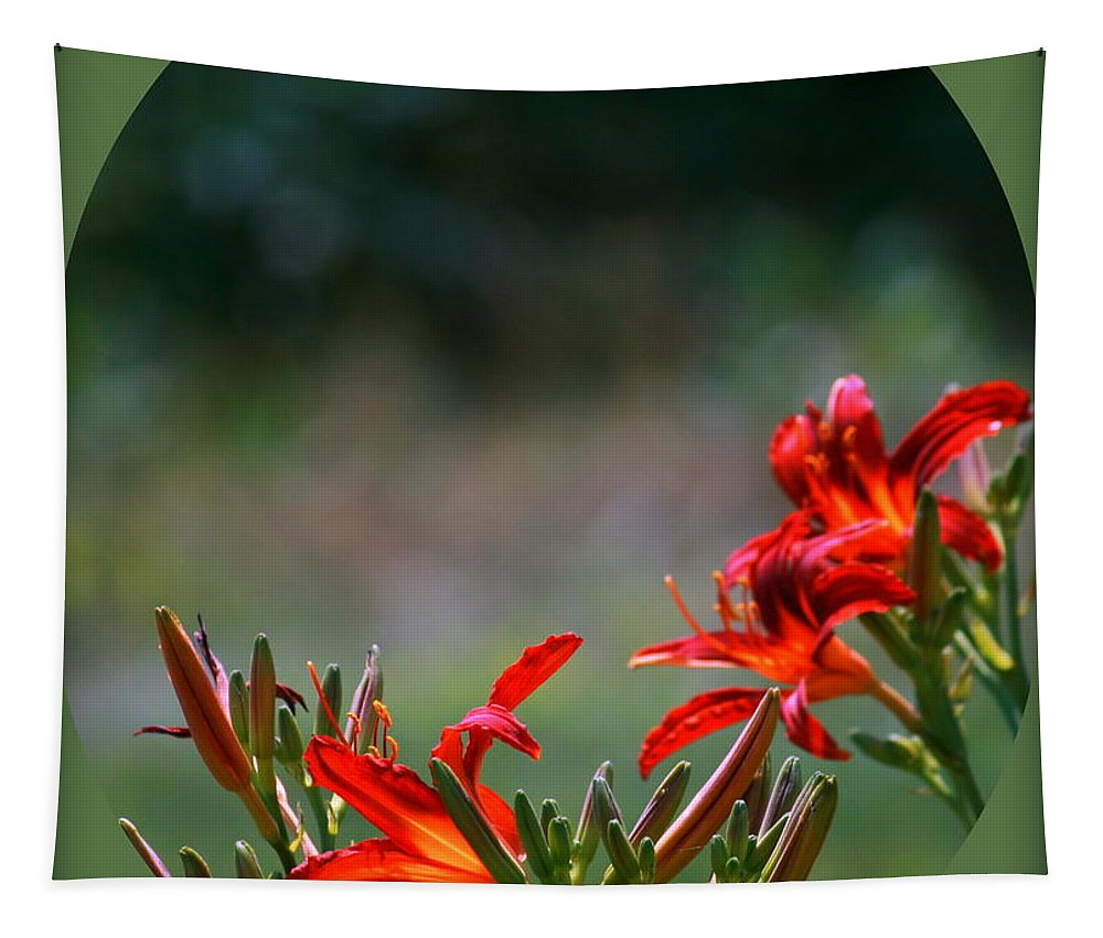 Art Tapestry featuring the photograph Tiger Lily by Linda Galok