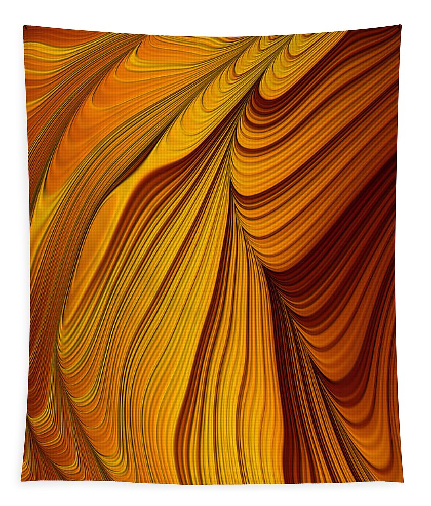 Tiger's Eye Tapestry featuring the digital art Tiger's Eye by John Edwards