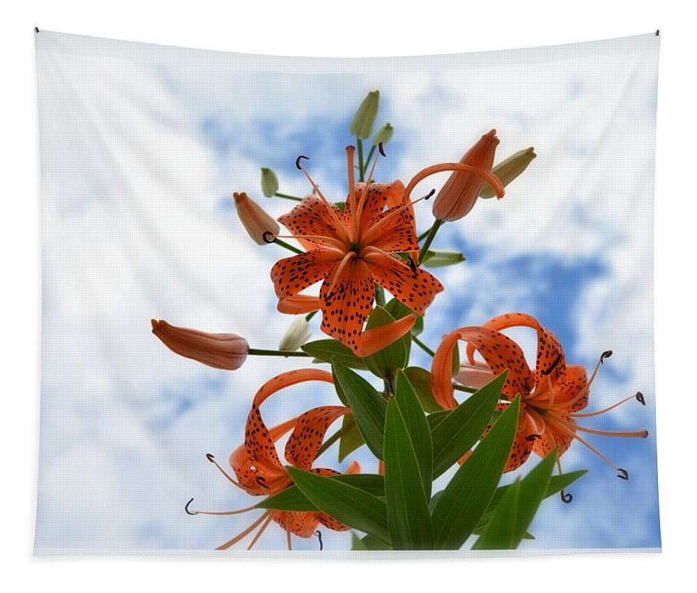 Flower Tapestry featuring the photograph Tigers In The Clouds 8567 by Bonfire Photography