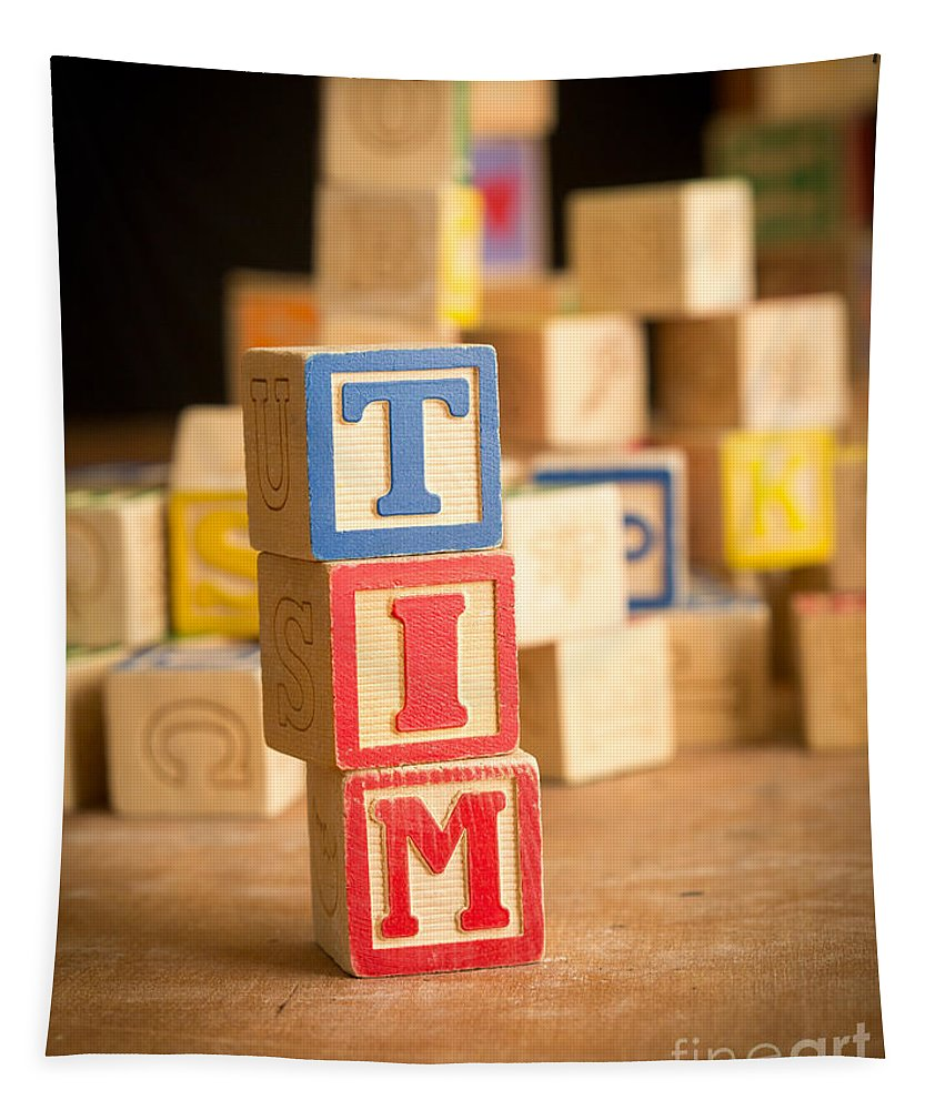 Abcs Tapestry featuring the photograph Tim - Alphabet Blocks by Edward Fielding