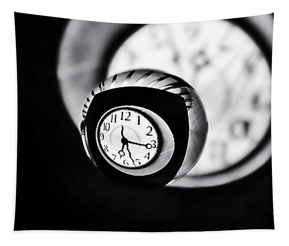 Time Is Up Tapestry featuring the photograph Time Is Up... by Marianna Mills
