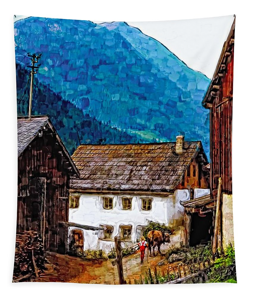 Austria Tapestry featuring the photograph Timeless Watercolor by Steve Harrington
