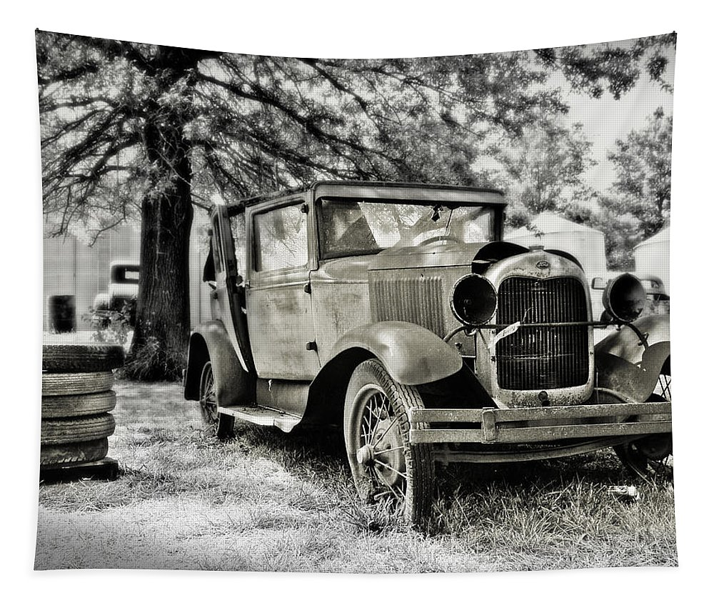 Cars Tapestry featuring the photograph Tired Spares by John Anderson
