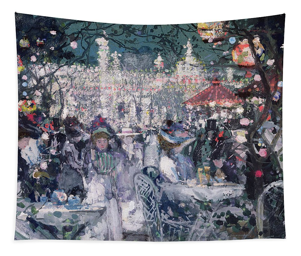 Century Tapestry featuring the painting Tivoli Gardens by James Kay