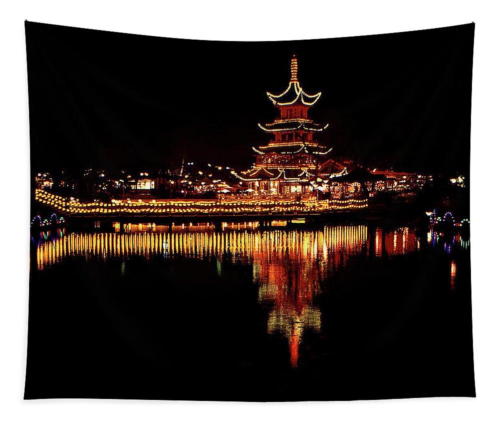 Tivoli Gardens Tapestry featuring the photograph Tivoli Gardens by Steve Harrington