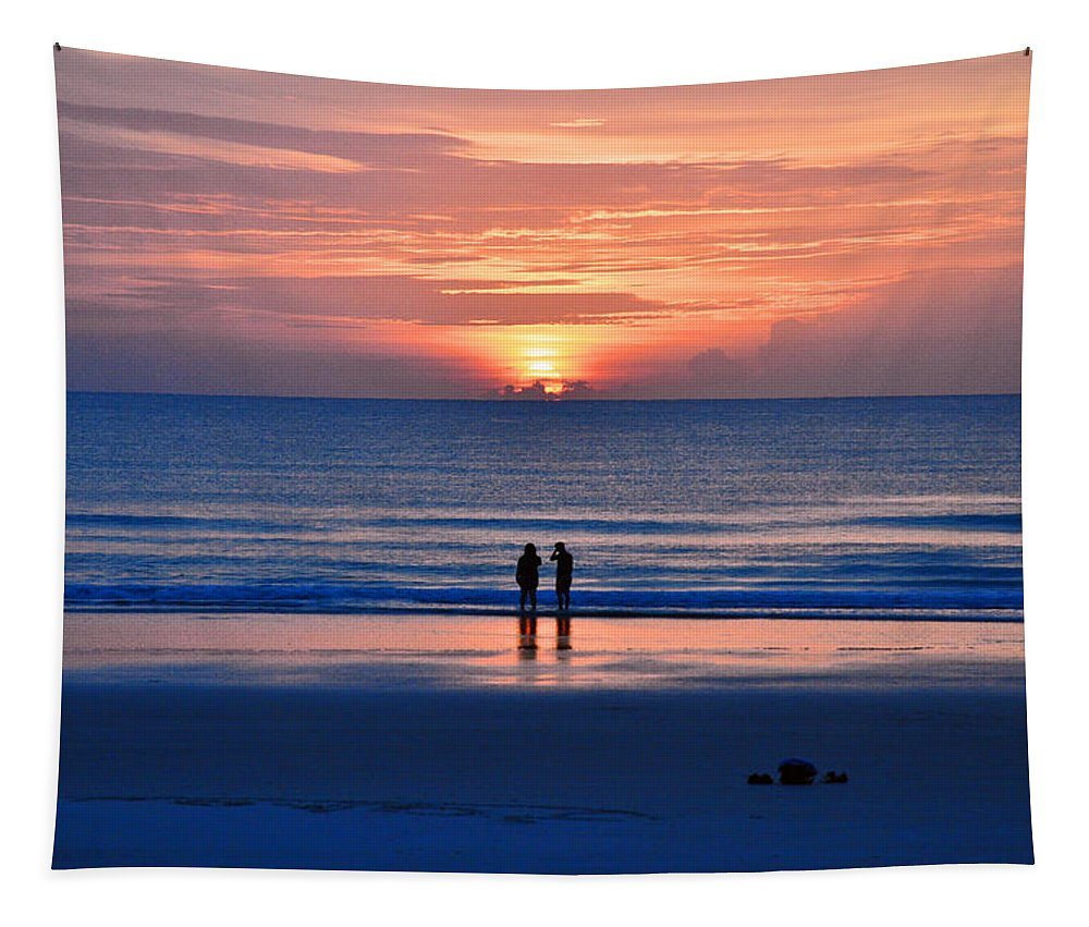 Sunrise Tapestry featuring the photograph Together We Stand by Davids Digits