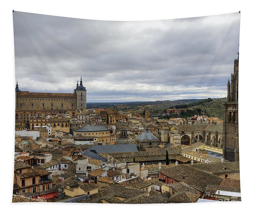 Alcazar Tapestry featuring the photograph Toledo View by Joan Carroll