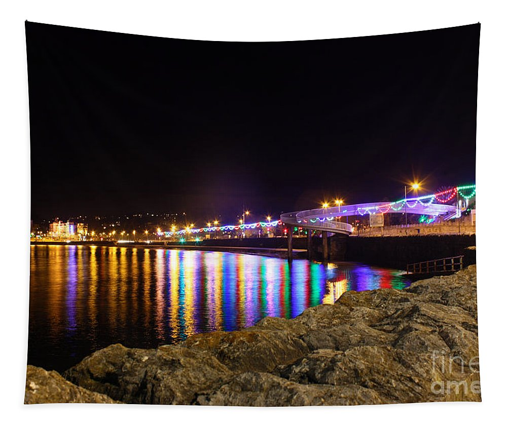 Torbay Tapestry featuring the photograph Torquay Lights by Terri Waters