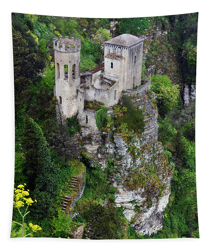 Torretta Tapestry featuring the photograph Torretta Pepoli by RicardMN Photography