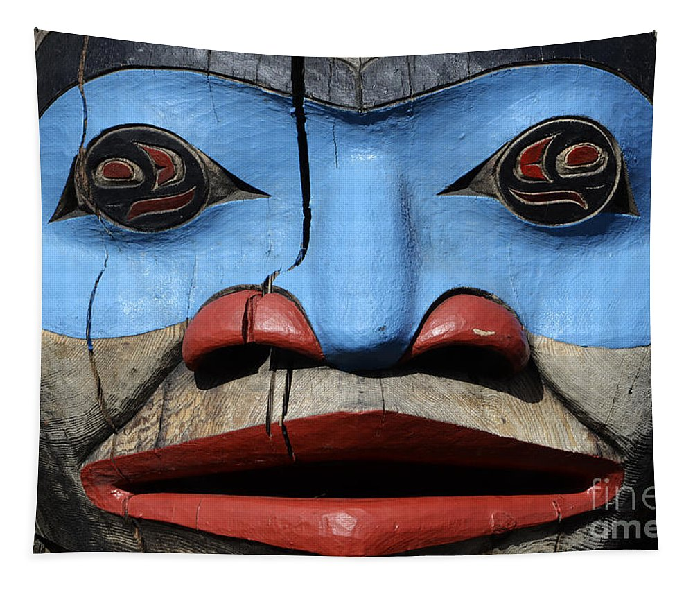 Totem Pole Tapestry featuring the photograph Totem Pole 4 by Bob Christopher