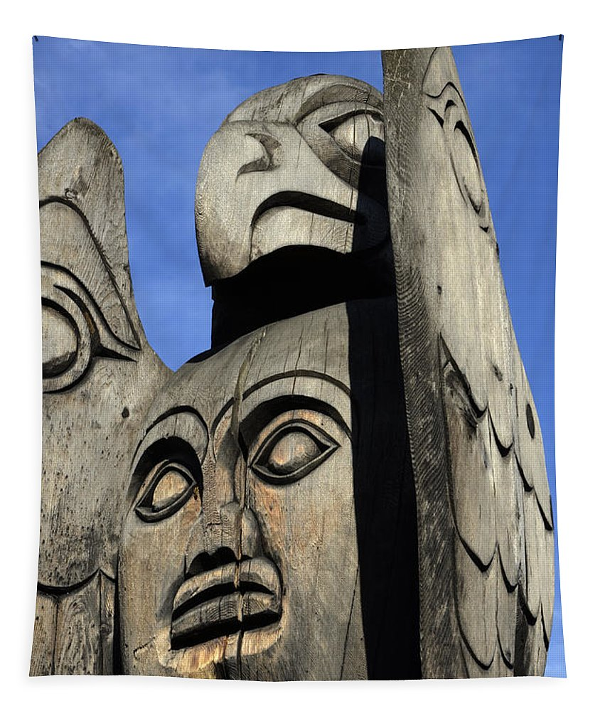 Totem Pole Tapestry featuring the photograph Totem Pole 7 by Bob Christopher