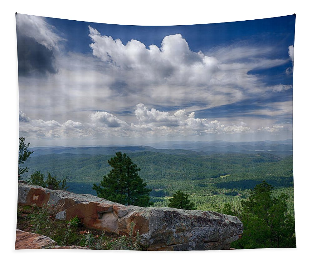 Mogollon Rim Tapestry featuring the photograph Touch The Clouds by Saija Lehtonen