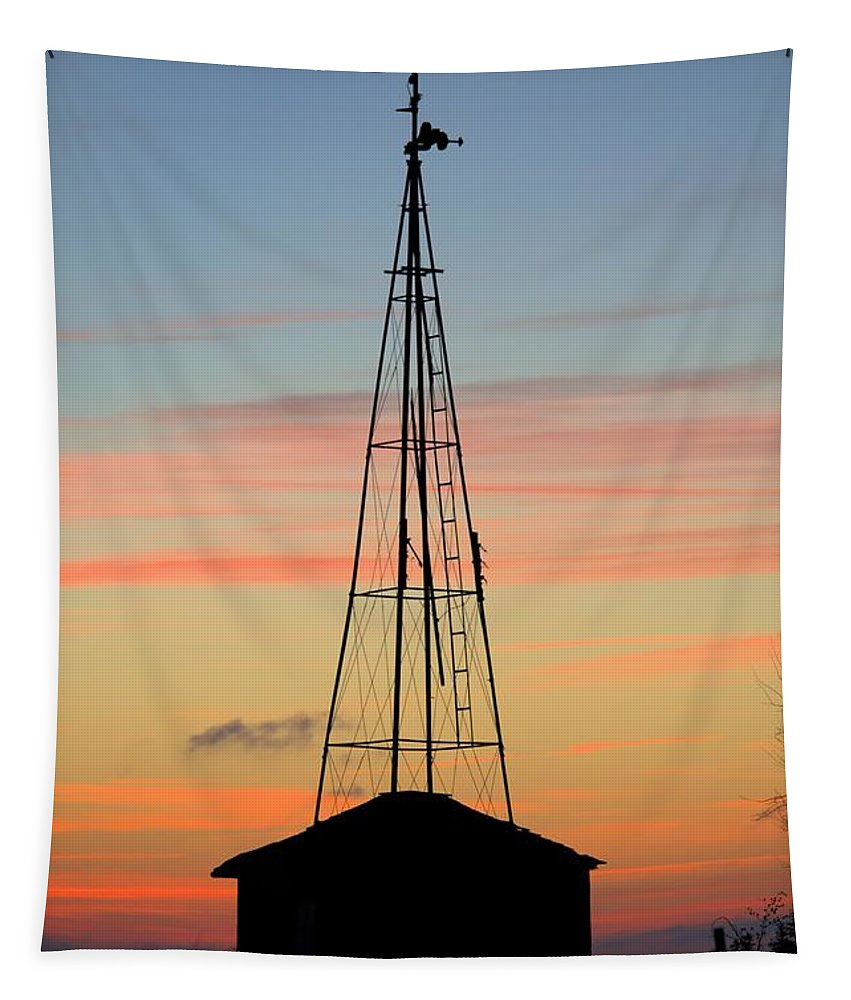 Agriculture Tapestry featuring the photograph Tower Sunrise by Bonfire Photography