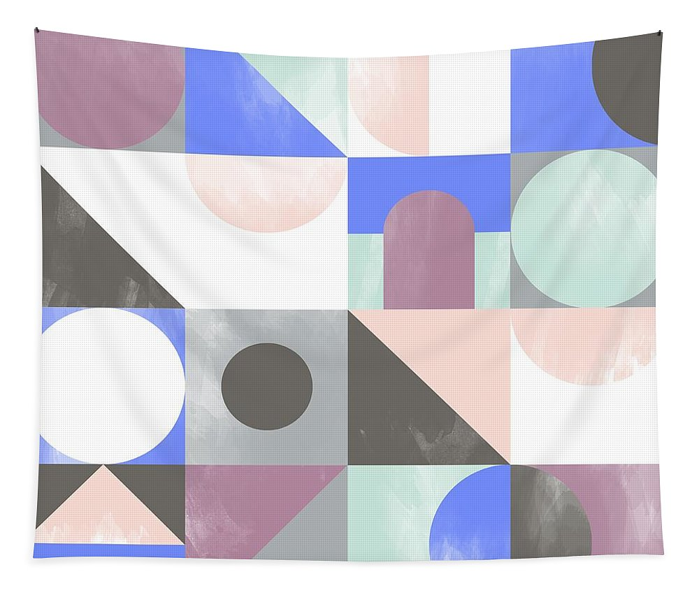Pattern Tapestry featuring the painting Toy Blocks by Laurence Lavallee